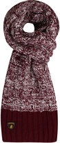 Yours Clothing SANTA MONICA Burgundy Knitted Scarf