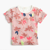J.Crew Girls' combo T-shirt in colorful leaf print