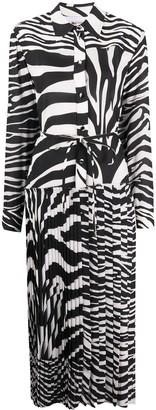 Ports 1961 Zebra-Print Midi Shirt Dress