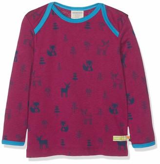 loud + proud Baby Girls' Shirt Woll-Anteil Druck Longsleeve T