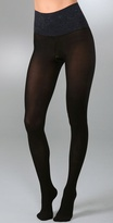 Paisley Waistband Matte Opaque Tights
