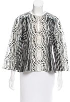 BCBGMAXAZRIA Patterned Long Sleeve Top