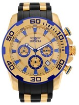 Invicta Men's 22308 Pro Diver Stainless Steel Chronograph Strap Watch - Gold/Black