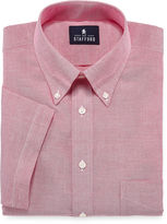 STAFFORD Stafford Travel Short-Sleeve Wrinkle-Free Oxford Dress Shirt - Big &Tall