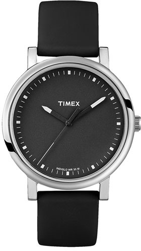 Timex 'Easy Reader' Silicone Strap Watch Black One Size