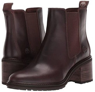 Timberland Sienna High Chelsea (Dark Brown Full Grain Leather) Women's Boots