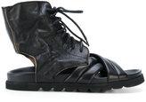 Ann Demeulemeester lace up sandals - women - Leather/Foam Rubber - 36