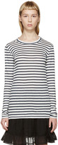 Etoile Isabel Marant White and Blue Karon Striped T-shirt