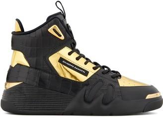 Giuseppe Zanotti Talon panelled high-top sneakers