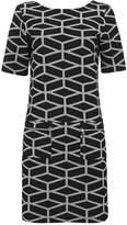 Wallis Grey Geometric Print Shift Dress