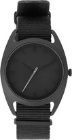 Nocs Atelier Black Seconds Watch With Silver Second Hand