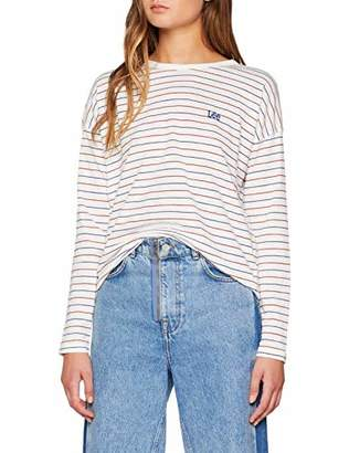Lee Women's Striped Tee T-Shirt,Medium