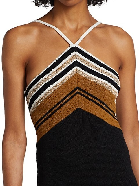 Thumbnail for your product : Proenza Schouler Stripe Knit Halter Dress
