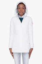 Canada Goose white quilted down Camp Jacket
