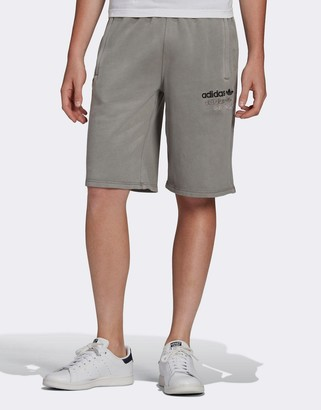 adidas overdyed premium shorts in gray