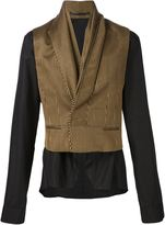 Haider Ackermann contrast shirt jacket - men - Silk/Cotton/Rayon/Virgin Wool - S