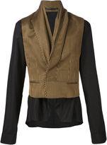 Haider Ackermann contrast shirt jacket