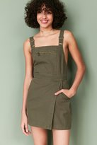 BDG Jessy Wrap-Front Overall Mini Dress