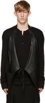 Isabel Benenato Black Leather Halter Vest