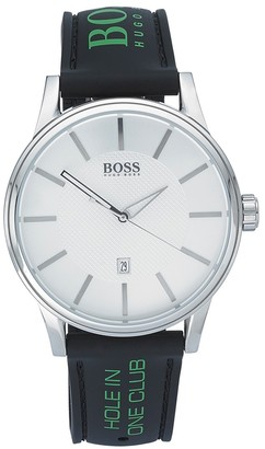 HUGO BOSS Unisex-Adult Analogue Classic Quartz Watch with Silicone Strap 1512884