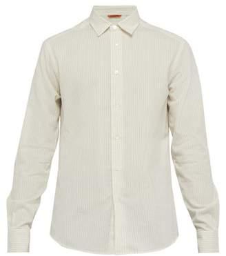 Barena Venezia - Coppi Striped Cotton-blend Shirt - Mens - Cream