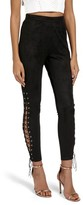 Missguided Women's Faux Suede Lace-Up Pants