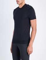 Neil Barrett Military wool silk and cashmere-blend T-shirt