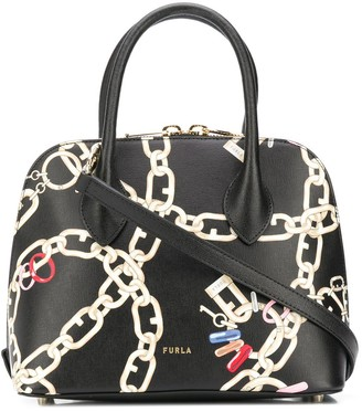 Furla Chain Print Tote Bag