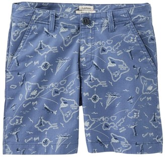 """L.L. Bean Women's Lakewashed Chino Shorts, 6"""" Print"""