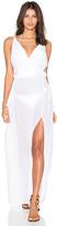 Bobi Rayon Gauze V Neck Sleeveless Maxi Dress