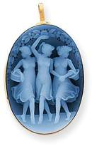 Bijou 14k Gold Three Graces Agate Cameo Pendant Pin