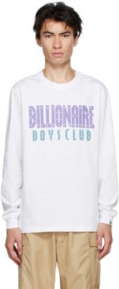 Billionaire Boys Club White Straight Logo Long Sleeve T-Shirt