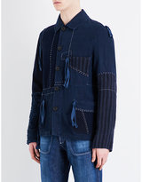 Loewe Drawstring-detail Patchwork Linen Shirt