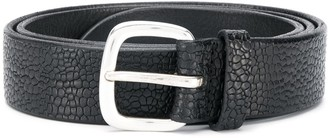 Orciani Embossed Leather Belt