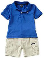 Nautica Baby Boys 12-24 Months Solid Short-Sleeve Polo Shirt & Cargo Shorts Set