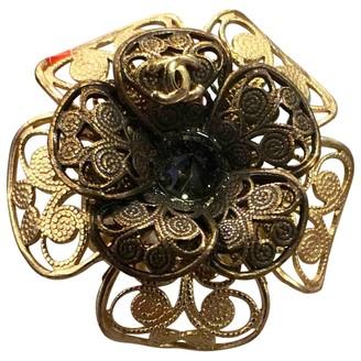 Chanel CamAlia Gold Metal Rings