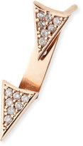Sydney Evan Single Earring with Diamond Triangle & Ear Jacket