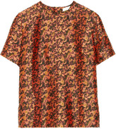 Michael Van Der Ham Silk and wool-blend jacquard top