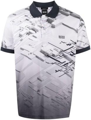 HUGO BOSS Printed Short-Sleeved Polo Shirt