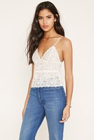 Forever 21 FOREVER 21+ Scalloped Floral Lace Cami