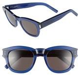 Saint Laurent Women's 'Bold 2' 49Mm Sunglasses - Opale Blue
