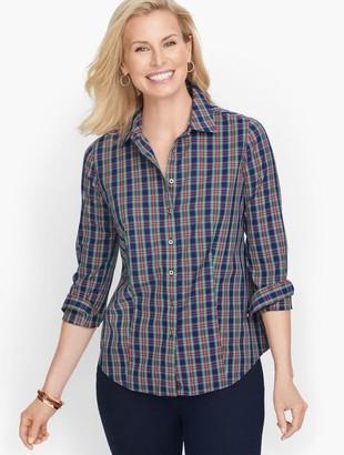 Talbots Perfect Shirt - Colorful Plaid