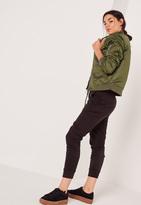 Missguided Soft Touch Bomber Jacket Khaki