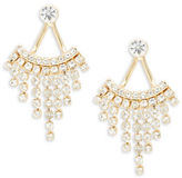 Dogeared Stone-Accented Front-Back Earrings