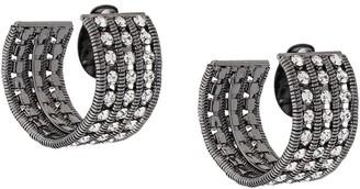 Silvia Gnecchi rhinestone earrings