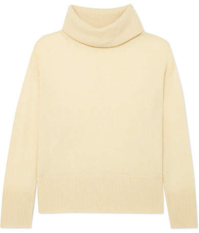 ADAM by Adam Lippes Brushed-cashmere Turtleneck Sweater - Pastel yellow