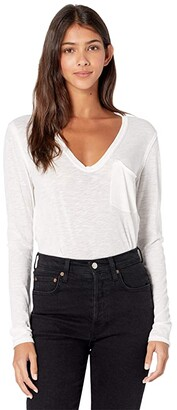 Free People Betty Long Sleeve (White) Women's Clothing