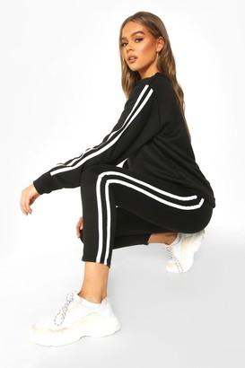 boohoo Side Stripe Sweat Jogger Set