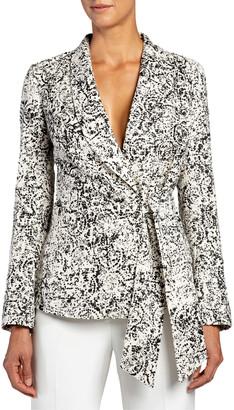 Santorelli Laverne Side-Wrap Jacket