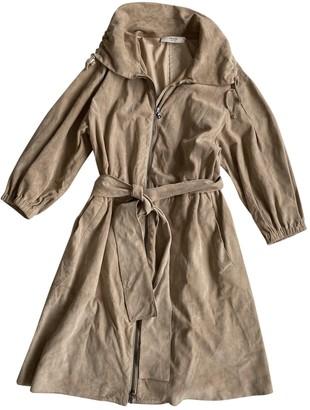 Prada Beige Suede Trench Coat for Women Vintage